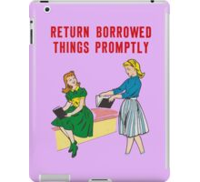 Classroom Poster manners iPad Case/Skin