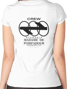 SS Madame De Pompadour - Crew Wear Women's Fitted Scoop T-Shirt
