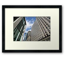 Uptown downtown Framed Print