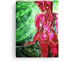 fragment WIND AND LIGHT - tempera, acrylic, paper Canvas Print