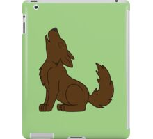Solid Brown Howling Wolf Pup iPad Case/Skin