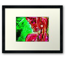 fragment WIND AND LIGHT - acrylic, tempera, paper Framed Print
