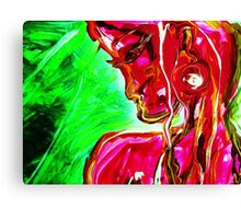 fragment WIND AND LIGHT - acrylic, tempera, paper Canvas Print