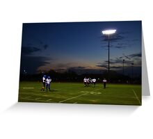 Football Players and Sunset Greeting Card