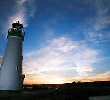Santa Cruz Harbor Light House by TimCatteraPhoto