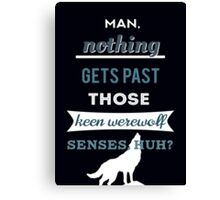 Teen Werewolf Senses Canvas Print