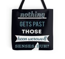 Teen Werewolf Senses Tote Bag