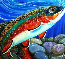 Watch Out Breeding Male Brookie by Jackie Carpenter