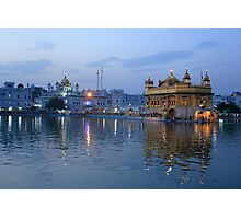 Golden Temple At Sunset Photographic Print