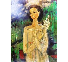 lady in a field Photographic Print