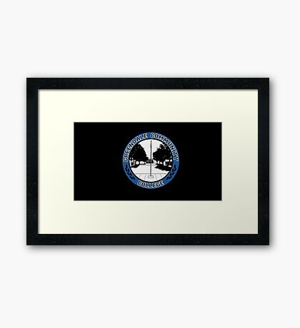 Greendale Community College Logo Framed Print