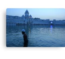 A Bathing Sikh Canvas Print