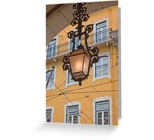 Lisbon lamp Greeting Card