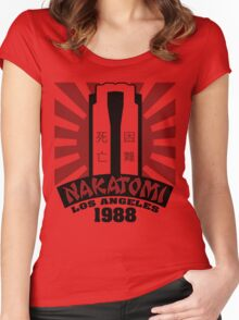 Nakatomi, 1988 (Black Print) Women's Fitted Scoop T-Shirt