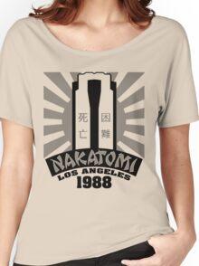 Nakatomi, 1988 (Black Print) Women's Relaxed Fit T-Shirt