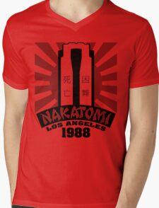 Nakatomi, 1988 (Black Print) Mens V-Neck T-Shirt