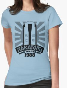 Nakatomi, 1988 (Black Print) Womens Fitted T-Shirt