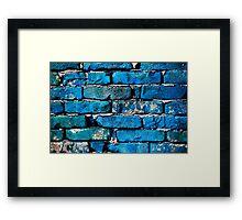Blue Brick Wall Framed Print