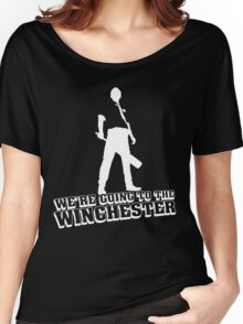 We're Going To The Winchester (White Print) Women's Relaxed Fit T-Shirt