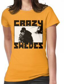 Crazy Swedes (B&W Print) Womens Fitted T-Shirt