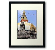 Swayambhunath Stupa Framed Print