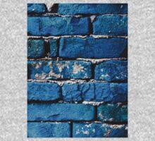 Blue Bricks Wall by Cristian Radu Tanta