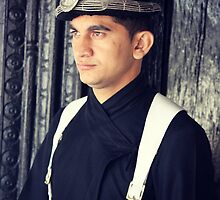 Nepalese Guard Portrait by Jamie Mitchell