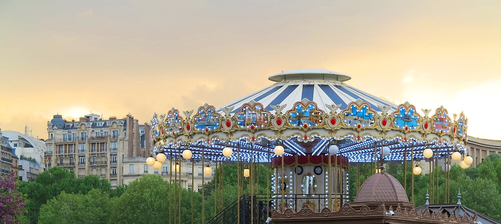 Paris Carrousel Top at Sunset by Heidi Hermes