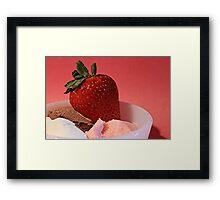 Strawberry on Neapolitan  Framed Print