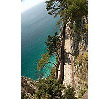 Italy - A long walk on the island of Capri Photographic Print