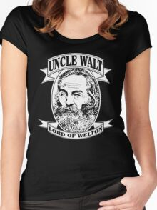 Uncle Walt (White Print) Women's Fitted Scoop T-Shirt