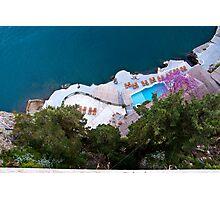 Italy - Amalfi Hotel Caterina Pool Photographic Print
