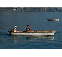 Fishermen in Positano Italy Photographic Print