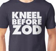 Kneel Before Zod (White Print) Unisex T-Shirt