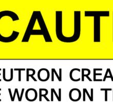 NEUTRON CREAM MUST BE WORN Sticker