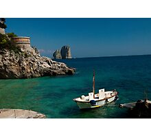 Italy - Capri Island Restaurant Photographic Print
