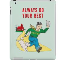 Classroom Poster Do Your Best iPad Case/Skin