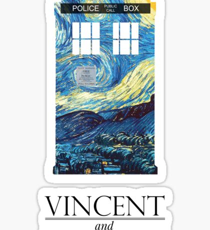 """Vincent and the Doctor"" Sticker"