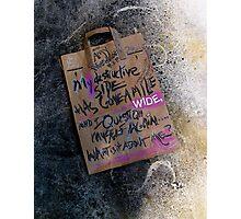 my destructive side . . .  Photographic Print