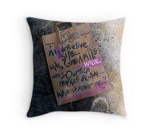 my destructive side . . .  Throw Pillow