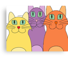 3 Cats Canvas Print