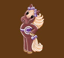 Hairy cutie little horse with a saddle by jazzydevil