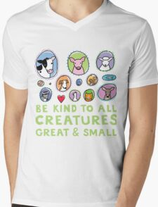 Be Kind to All Creatures 2 Mens V-Neck T-Shirt