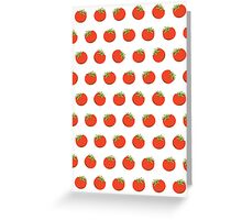 Sweet Red Tomato Picture Pattern Greeting Card