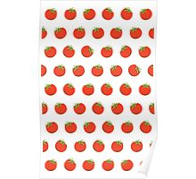 Sweet Red Tomato Picture Pattern Poster