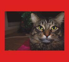Cute Christmas Cat One Piece - Short Sleeve