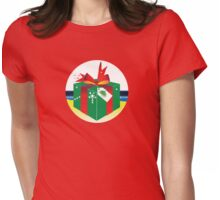"""Day 147   365 Day Creative Project  """"Gift Wrapped"""" Womens Fitted T-Shirt"""
