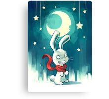 Moon Bunny 2 Canvas Print