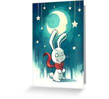 Moon Bunny 2 Greeting Card