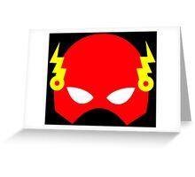 Super hero mask (Flash) Greeting Card